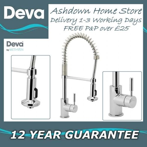 Deva SLINKY118 Chrome Mono Kitchen Sink Mixer Pull Out Rinser Tap *CLEARANCE PRICE 1 LEFT*